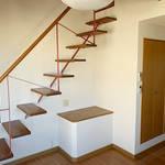 ロフト階段(居間)